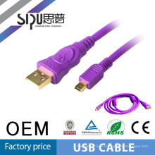SIPU Wholesale price usb a to mini din 8pin cable mini usb double cable usb cable