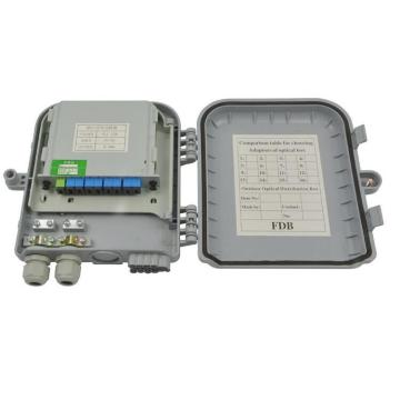Luar ruangan 8 Port Fiber Optic Termination Box