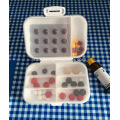 Promosi Mini Pillboxes plastik W / petak