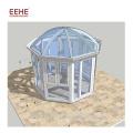 Salle de soleil en verre pour le jardin d'hiver en aluminium