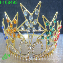 Wholesale Cheap Rhinestone Colorful color Star Tiara Crown