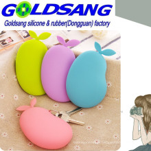 Hot Selling Silicone Pear Proofwater Key Bag/Coin Bag