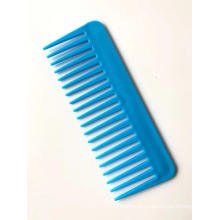 16cm Plastic Blue Wide Tooth Comb for Hair Dressing Usage