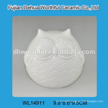 Excellent design ceramic white owl decoration for 2016 home decoration