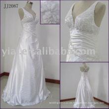 JJ2087 Halter rebordeado sexy no cola abierta vestido de novia trasero 2014
