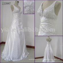 JJ2087 Halter Beaded Sexy No Tail Abra Back Wedding Dress 2014