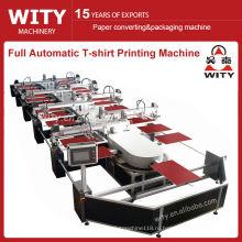 Полноавтоматическая овальная машина для печати текстильных изделий WTKY