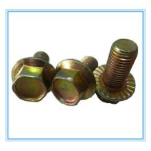 DIN6921 Parafuso de flange hexagonal (zincado amarelo)