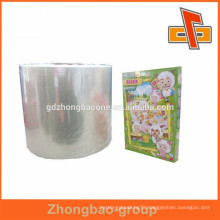 Factory eco-friendly soft PVC/ POF shrink film label for paper box packaging ad printing