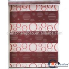 Persianas venecianas de doble capa persianas transparentes de pvc
