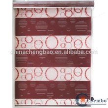 Double layer venetian blinds transparent pvc window blinds