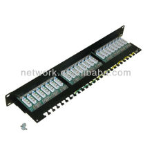 1u 19inch 24 port cat6 rj45 stp blank patch panel