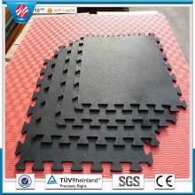 Splicing Black Colour Fitness Rubber Tiles, 500*500*12mm
