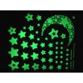 Настенные наклейки для детских комнат флуоресцентное свечение в темноте звездочки стикер стены DIY плакат домашнего декора