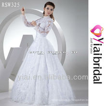 RSW325 Long Sleeve High Neck Wedding Dress