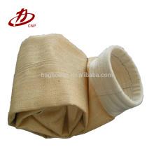 Saco de filtro baghouse poliéster aramida coletor de pó