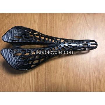 Selle de bicyclette pleine fibre de carbone