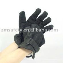 ZM102 vache noire fendue gant de policier