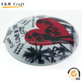 2016 Ceramic Folding Leather Compact Cosmetic Mirror for Promotion Gift