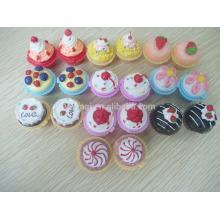 Venta por mayor lindos Cupcake Lipbalm hidratante labial maquillaje cosmeticos