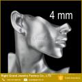 5mm 6mm Aço Inoxidável 316L Prong Definir praça em forma de pino de ajuste cúbicos de zircônia pregos de orelha