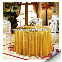 Hochwertiges Gold kundengebundene Größe vorhandene runde preiswerte Tischdecken