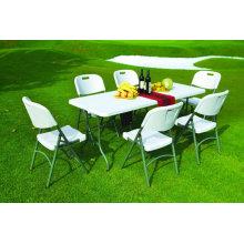 Mesa de comedor plegable plástica de los muebles del jardín 5ft