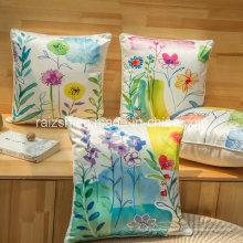 Coussin de canapé floral en soie de haute qualité épaissie