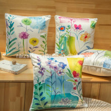 Thickened High-Grade Silk Floral Sofa Pillow