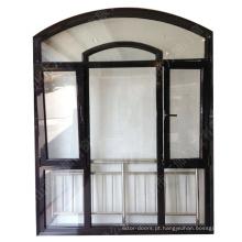 Janela de arco de janela de meio círculo de alumínio estilo europeu fixo