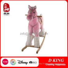 Bois cheval à bascule enfants jouet intérieur aire de jeux