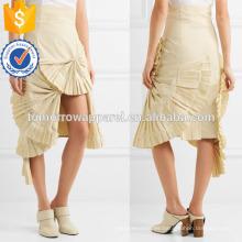 Nueva Moda Beige plisada Verano Mini falda diaria DEM / DOM Fabricación al por mayor Moda Mujer Ropa (TA5009S)