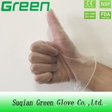Guantes médicos desechables libres del vinilo del polvo / polvo libres (ISO, CE certificated)