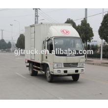 4X2 drive Dongfeng van transport truck for heavy goods transportation for 5-20 cubic meter