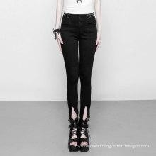 PUNK RAVE High Waist Zipper Opening  Jeans denim jeans pants tight pants women