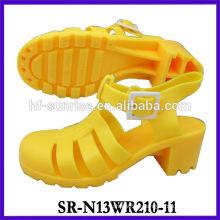 SR-N13WR210-11 (2) sandales à talons hauts chaussures sandales en plastique ldies sandales en pvc sandales en gelée en gros