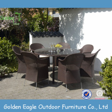 Golden Eagle Cheap Outdoor Rattan Dining Table and Chairs
