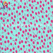 Chemise de vêtement coton popeline cerisier avec textile imprimé (GLLML190)