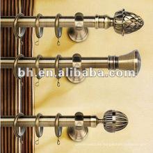 Latón antiguo torcido finial flexible metal cortina pole
