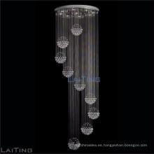 Candelabros de cristal elegante iluminación cristales de araña caída de lluvia 92021