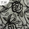 2016 Hot Sell Flocking Sofa Fabric with Beautiful Rose Pattern
