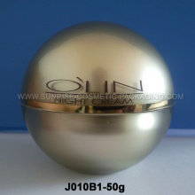 Pote crema acrílico forma de bola 50g