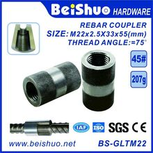 M22-L55mm Building Construction Rebar Coupler with Straight Screw Sleeve