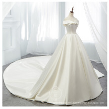 One shoulder wedding dress pengpeng Princess slim  simple tailed Satin Wedding Dress