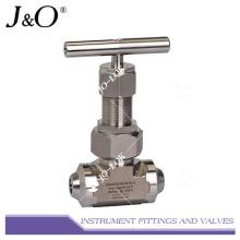 Válvula de aguja para instrumentos de alta presión de acero inoxidable NPT