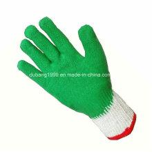 Látex revestido luvas, luvas de látex da dobra, luvas, luvas de proteção do trabalho
