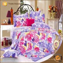 Ropa de cama de patrón rosa conjunto