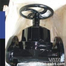 Flat Face ANSI/JIS/GB/BS Pn10/Pn16 Weir Type Cast Iron Gg25 Diaphragm Valve Lined PTFE