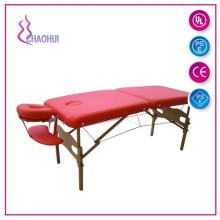 Taşınabilir ahşap masaj masası ile ayarlanabilir