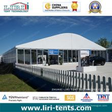 Tenda para Eventos Arcum Golf com Paredes de PVC e Paredes de Vidro